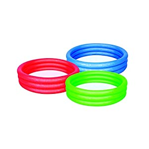 Bestway Splash and Play Three Ring Play Paddling Pool - Multi-Colour