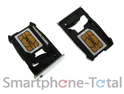 NG-Mobile Simkarten SIM Karten Try Halter Schlitten Einschub für Google Nexus 6 Silber