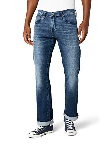 Levi's Herren Bootcut Jeans 527 Slim Boot Cut, Blau, W33/L32
