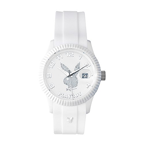 playboy-even42wd-evening-montre-mixte-quartz-analogique-cadran-blanc-bracelet-silicone-blanc