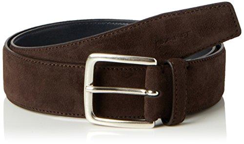 GANT Herren Gürtel Classic Suede Belt Braun (Rich Brown 274), 110 (Herstellergröße: 110/44) (Classic Belt)