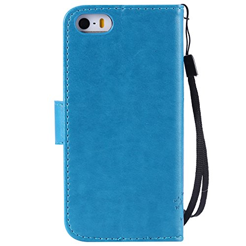 Housse pour iPhone 5C,Antichoc Coque Etui pour iPhone 5C,iPhone 5C Leather Case Wallet Flip Protective Cover Protector,EMAXELERS iPhone 5C Flip Etui de Protection PU Cuir Bookstyle Étui,iPhone 5C Coqu Bling Tree 4