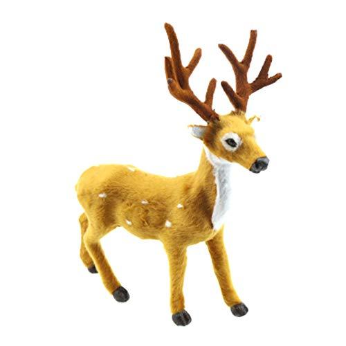 FORH Weihnachts-Deko Weißer Hirsch Rentier Kind Puppe Weihnachten Party Dekor Home Decoration Ornament Heimtextilien Christbaumschmuck Anhänger Kinder Spielzeug Geschenk (Elch 25CM) -