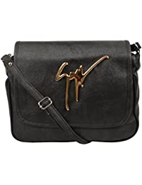 Trendz Women's Sling Bag (Black,573)