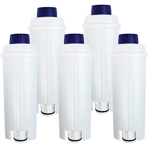 5 Cartuccia filtro acqua compatibile DeLonghi DLSC002 * cartuccia filtrante De Longhi DLS C002, SER...