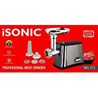 iMG 575 iSONIC Electric Meat Grinder with 3 cutting plates - 1500 Watts