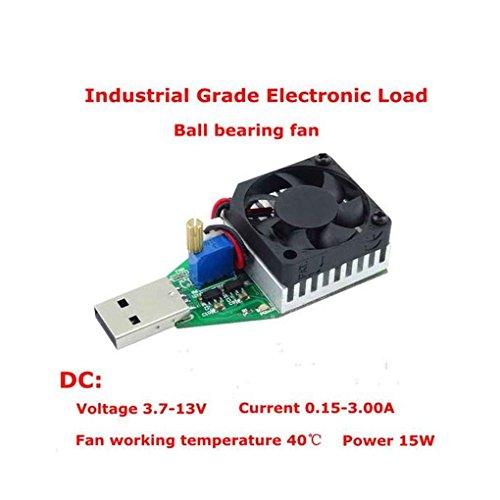 Demino DC 3.7-13V 15W Elektronische Last Disch Widerstand USB Batterietester mit Ventilator einstellbaren Konstantstrom