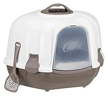 Trixie Maro corner litter tray, with hood