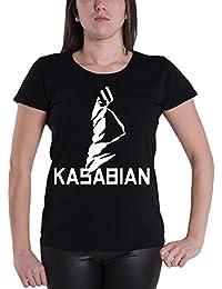 Kasabian T Shirt Ultra Face officiel Femme nouveau Noir Skinny Fit
