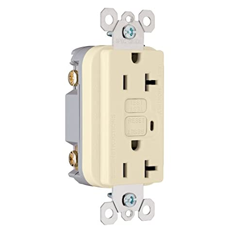 Legrand-Pass & Seymour 2095I Trademaster GFCI Receptacle 20 Amp 125 Volt AC, Ivory by Legrand-Pass & (Gfci Steckdose)
