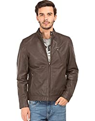 US Polo Mens Leather Jacket (8907378418586_USJK1559_XX-Large_Brown)