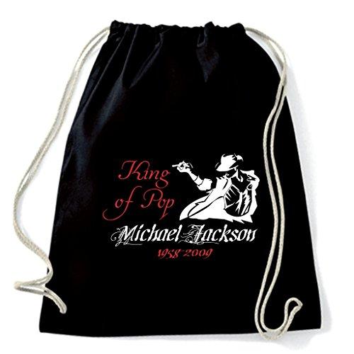 Art Shirt, Rucksack Beutel Michael Jackson Tribute, Schwarz, michael-jackson-tribute-sac-blk onesize Michael Jackson Rucksack