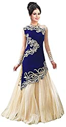 Maxthon Fashion Women's Georgette Unstitched Salwar Suit (Max_salwarsuits_dresses_2244_Blue)