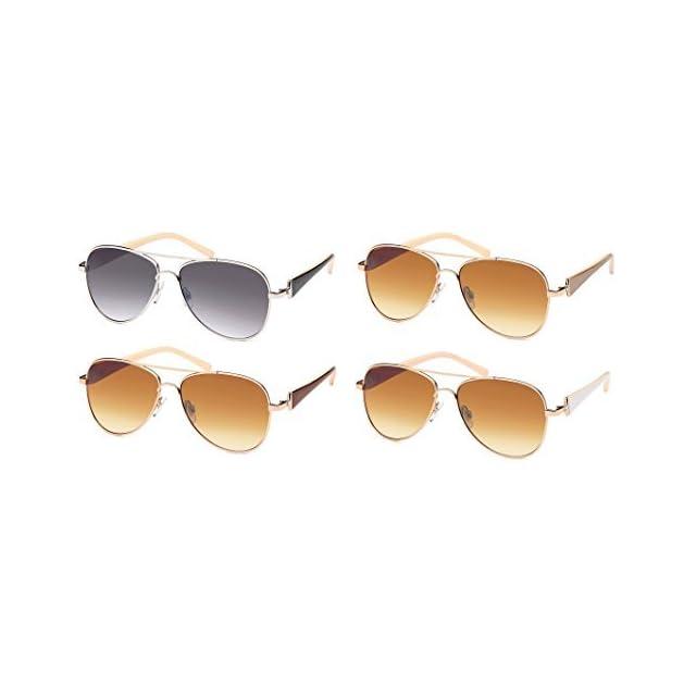 e0dff90cd0ce2 Balinco Femmes Lunettes de soleil aviateur lunettes de soleil avec Pierres  de stress   vernis Fer ...
