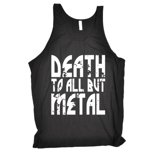 death-to-all-but-metal-new-premium-tank-vest-top-l-black-slogan-funny-clothing-joke-novelty-vintage-