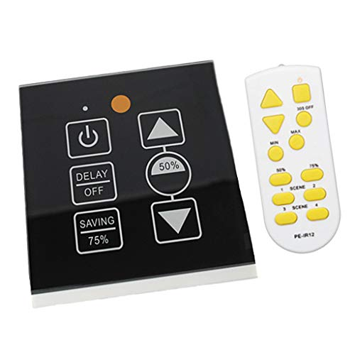 perfeclan 500W Wireless Control LED Touch Switch Panel Stufenloser Controller LED Dimmer - Wireless-control-panel