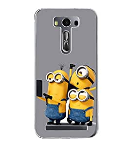 Funny Characters 2D Hard Polycarbonate Designer Back Case Cover for Asus Zenfone 2 Laser ZE550KL (5.5 INCHES)