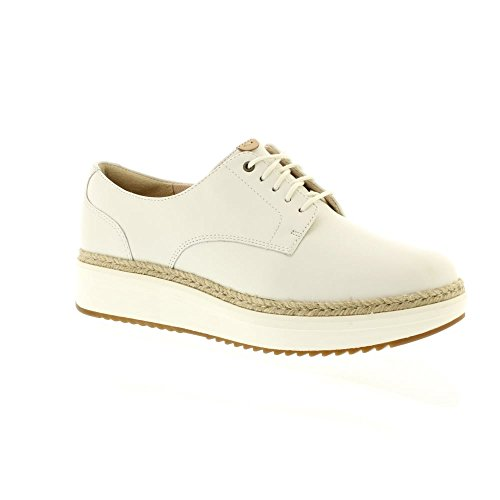Clarks Teadale Rhea - White Leather White