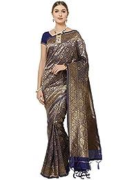 IDIKA Women's Banarasi Art Silk Sarees With Blouse Piece