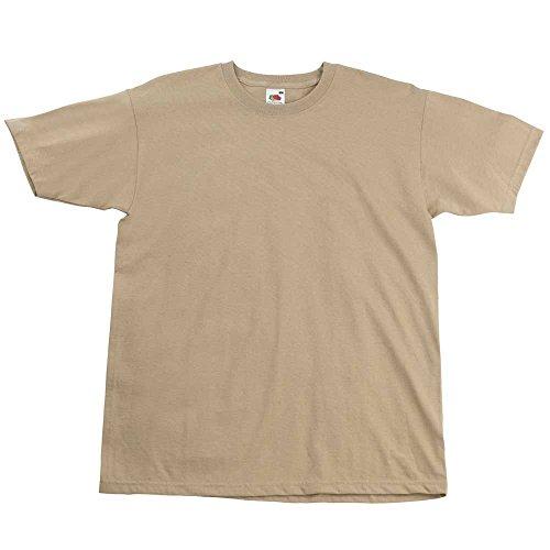 Fruit of the LoomHerren T-Shirt Braun - Khaki