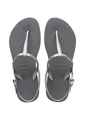 Havaianas freedom, sandali con zeppa donna, argento (steel grey 5178), 35/36 eu (33/34 brazilian)