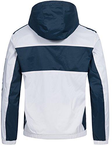Übergangsjacke   Übergangsparka   Funktions-Jacke für Herren Clapping von Geographical Norway - stylischer Windbreaker mit Kapuze Weiß