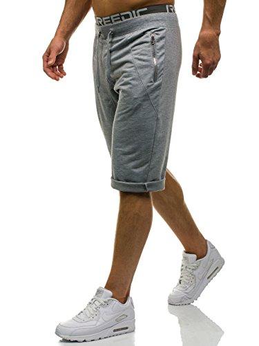 b8c55ef90c1a BOLF Herren Shorts Kurzhose Sporthose Jogginghose Bermudas Fitness Motiv  J.STYLE 6009 Grau XXL
