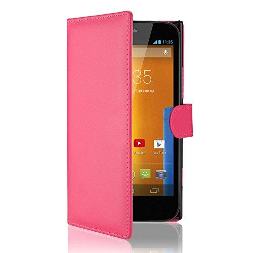 d839596b345 32nd® Funda Flip Carcasa de Piel Tipo Billetera para Motorola Moto G (2013)