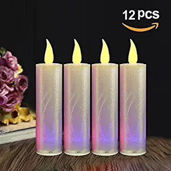 loguide LED Flameless Moving Cumpleaños S?ULE velas con soporte f ¨ ¹ r boda Decoración Home Decor