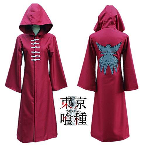 Kirishima Touka Cosplay Kostüm - Hzd Tokyo Ghoul Touka Kirishima Anime Cosplay Kostüme Japanische Cosplay Anzüge Andere Langarm Mantel für Unisex,XL
