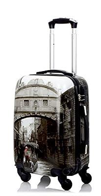 Trolley cabine 55 cm & 50 cm valise rigide abs polycarbonate imperméable avec film de protection - bagages à main pour les vols - Fantasy Papillon