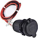 Enisina Marine Grade Sigarettenaansteker, waterdicht, 12 V/24 V, gelijkstroomstopcontact, voor boot, motorfiets, auto, met 0,