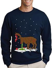 ee0029d86981eb Green Turtle T-Shirts Witziges Ugly Sweater Geschenk Verkatertes Rentier  Sweatshirt