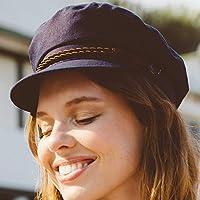 RACEU ATELIER Gorra Mujer Porto - Gorra marinera - 100% lino - Sombrero  Verano - 6c16676221d