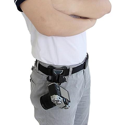 WITHLIN® cámaras digitales sin espejo cintura cinturón hebilla botón - plataforma de carga rápida cámara suspensión sostenedor del Clip de correa para cámaras sin espejo (Pentax, Canon, Panasonic, Leica, Sony, Samsung, M4/3, NEX, Fujifilm,