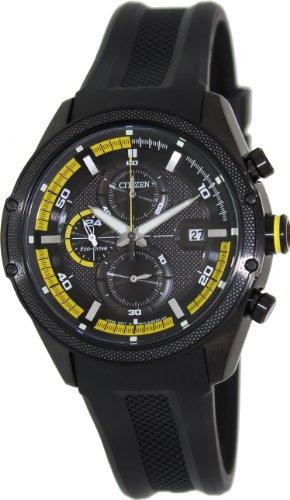 Citizen CA0125-07E - Reloj para hombres, correa de goma color negro