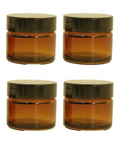 4er-packung-x-15ml-leer-bernstein-glasdose-mit-schwarzem-deckel-fur-aromatherapie-kosmetik-lippenbal