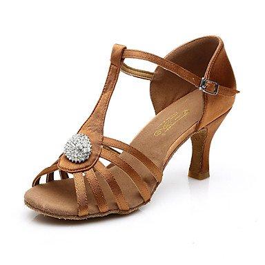 Silence @ Chaussures de danse pour femme ventre/latine/Jazz/danse Sneakers/Chaussures de swing/accessoires de chaussures de danse en satin noir