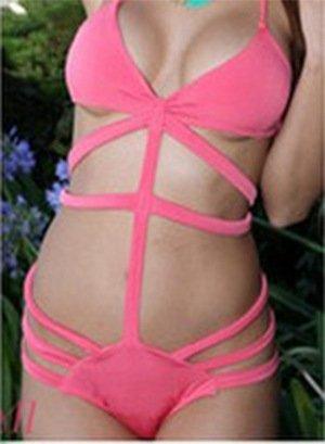 CU@EY Women's Stil Design Unique Bikini Badeanzug komfortable Stil neuartige Qualität gut für die Party Freizeit Urlaub Schwimmen Strand Ausübung oder andere Anlässe Pink