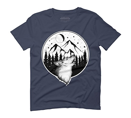 HOWLING Men's Graphic T-Shirt - Design By Humans Navy
