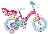 Peppa Pig Kinderfahrrad 12 Zoll Fahrrad mit Rücktrittbremse Puppensitz Korb