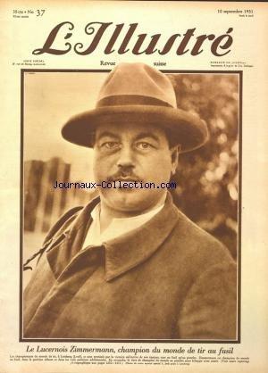 ILLUSTRE SUISSE (L') [No 37] du 10/09/1931