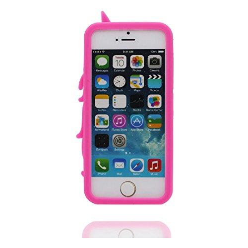 iPhone 5S Hülle, [ flexibles TPU materielles Einhorn unicorn Soft ] Handyhülle für iPhone 5G 5 SE 5C, Staub-Beleg-Kratzer beständig, haltbare weiche case Farbe 2