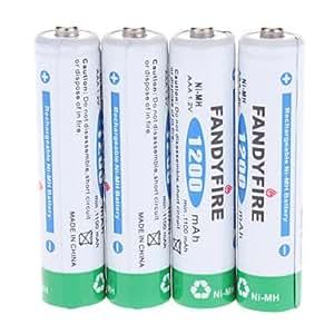 Obtenir Fandyfire rechargeable 1.2V 1200mAh AAA Ni-MH batterie (pack de 4 pièces)