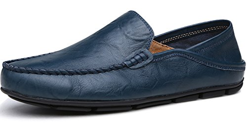 Lapens Men's Driving Shoes Premium Genuine Leather Fashion Slipper Casual Slip On Loafers Shoes LPLFS137-Be44