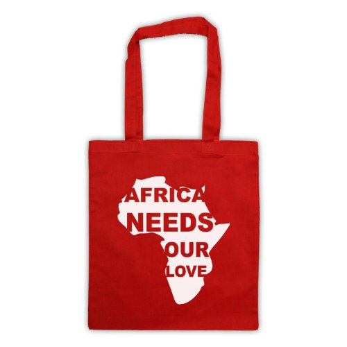Africa esigenze Our Love Protest Slogan Tote Bag Rosso