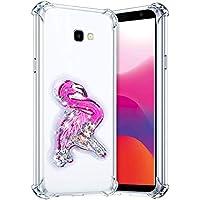 Robinsoni Funda Compatible con Samsung Galaxy J4 Plus 2018 Funda Silicona Carcasa Glitter Liquida Carcasa Gel Goma Funda Bumper 3D Suave Case Flexible Ultra Suave Brillante Carcasa Funda Azul