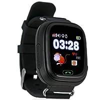 GPS Telefon Özellikli Akıllı Çocuk Takip Saati (Siyah)