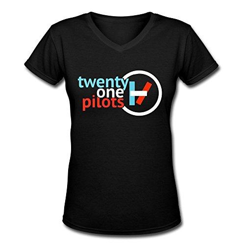 bestt-mujer-twenty-one-pilotos-logo-camiseta-de-cuello-de-pico