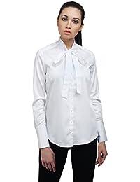 Ombre Lane Womens Plain Regular Fit Cotton Shirt